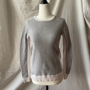 Calvin Klein Gray and White Sweater